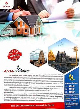 DTCP Approved open plots for sale=Keesara to Yadadri