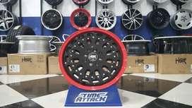 Velg buat Toyota Avanza MYTH07X HSR R16X7 H8X100-114,3 ET40 RED-BK FAC