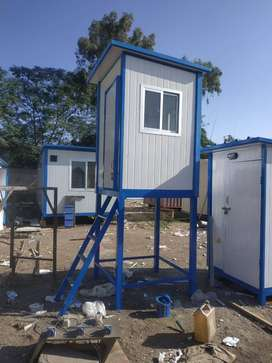 security guard cabins, mobile washrooms/