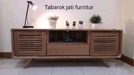 Bufet tv retro moderen & mewah, P.150cm,bahan kayu jati asli 100%