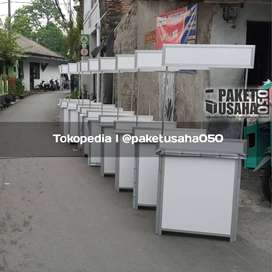 booth portable - gerobak, event desk meja lipat container stand lemari