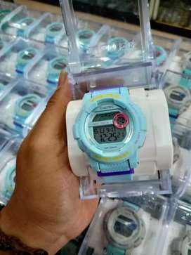 jam ori digital warna bluee keren include lwngkap