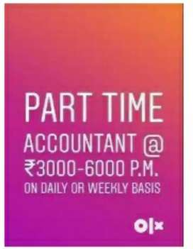 I have need part time accounts job
