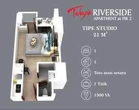 Dijual TERMURAH Apartemen Toyko Riverside PIK2 Type Studio Standartdev