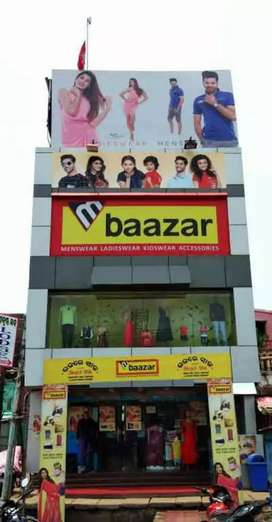 Urgent requirement in M Bazaar Mall