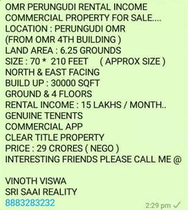OMR RENTAL INCOME COMMERCIAL PROPERTY FOR SALE