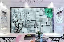 Wallpaper Dinding 3D Custom Desain.160876ty6y