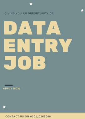 Part time data entry job is here earn through it from home