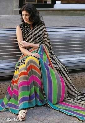 Multi color Georgette printed sarees