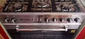 NesGas cooking range with 5 burners and one full size oven