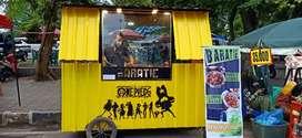 Di jual rugi gerobak / booth container