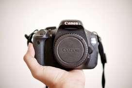 Canon 600D Fullset + Canon EF 50mm f/1.8, Lens Hood, UV Filter Kenko