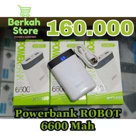 Powerbank Robot RT7400 6600MAH By Vivan Lcd Dual Usb