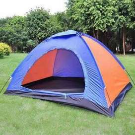 Manual Camping Tents comes with a carry bag. Is made of imported stuff