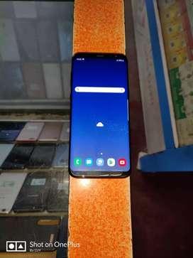 Samsung Galaxy S8 plus black colour phone.