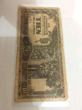 10 TIEN Gulden de japansche regeering