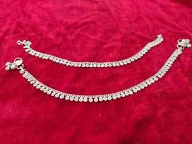 Silver payal set