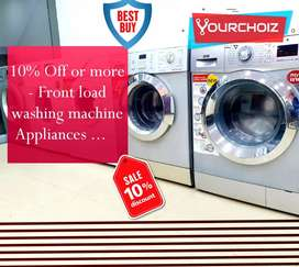 10% offer on front load washing machine special offer