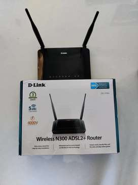 D-Link Wireless N300 ADSL2+ Router|CAT-5 LAN cable|Splitter|RJ45 Cable