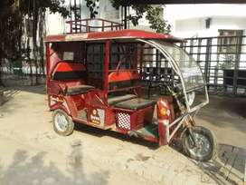 E rikshaw is good condition