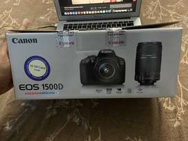 Canon EOS 1500D DSLR Camera Body Dual kit with EF-S 18-55 IS IIand 55-