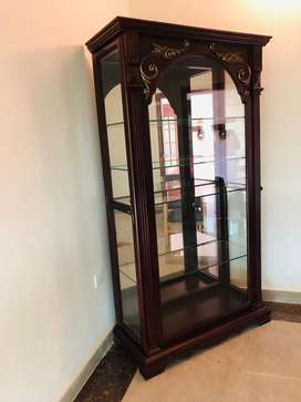 All purpose Glass and Wooden Cabinet