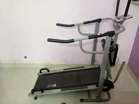 Treadmill Non-Electric tread mill.with calf builder & push-up holder