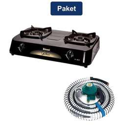 Rinnai Kompor Gas 2 Tungku 60 cm + Quantum Selang & Regulator Gas
