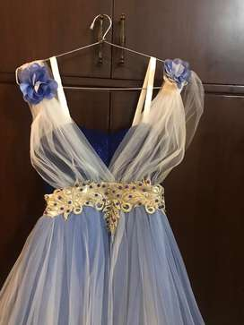 Blue White new Gown
