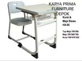 Meja Sekolah plus Kursi cocok untuk SMA, MA, kuliah, kursus, kuat&awet