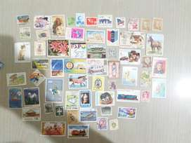 Stamps collected in year 2000