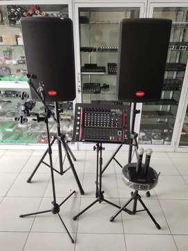 Speaker Aktif, mixer dan perangkat sound sistem lengkap