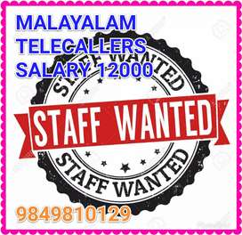 Wanted malayalam Telecallers at Tirupur