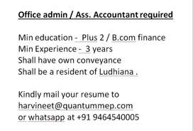 Office admin / Assis. accountant