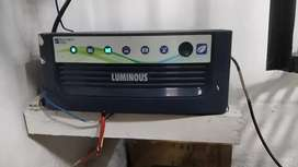 LUMINOUS INVERTER Eco volt+ 1050 with AMARON  BATTERY.