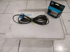 Printer Hp deskjet 2132 with Cartridge (wired).