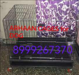 FOLDABLE DOG CAGE WITH WHEELS