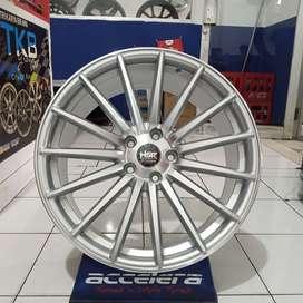 Velg Mobil Jari-Jari Celong 8,5-9,5 Baut 5x112 HSR TSUKUBA Silver ET45