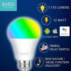 BARDI Smart LIGHT BULB RGB+WW 12W Wifi Wireless IoT - Home Automation