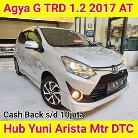 Agya G TRD 1.2 2017 AT Promo CASH BACK 10juta Khusus KREDIT