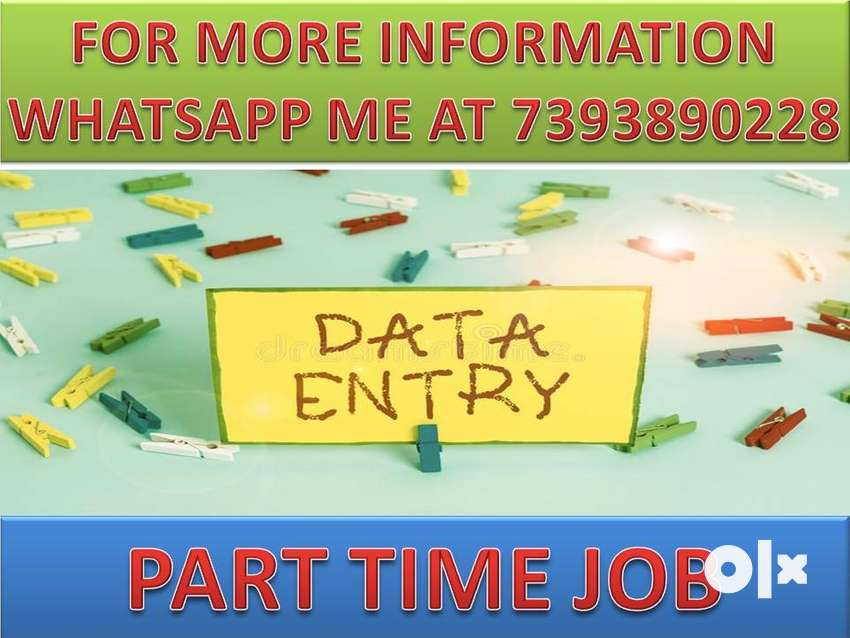 JOB AVAILABLE HOME BASED JOB OF DATA ENTRY PART TIME WORK AVAILABLE/- 0