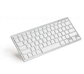 Keyboard Mini Bluetooth Untuk Android, Apple, Pc Baterai A3 Silver