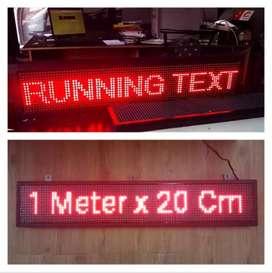 Running text / tulisan berjalan 1m x 20cm