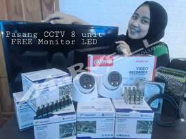 PASANG CCTV PAKET 8CH GRATIS 1 UNIT MONITOR LED