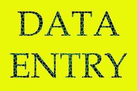 Data entry required for simple typing & data entry.