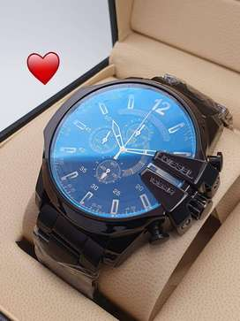 Black Colour Stylish Watch For Men's
