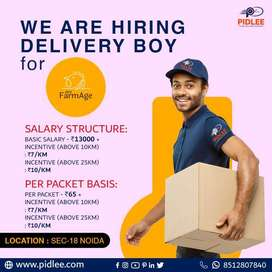 Urgent Delivery Boy required for Noida 18 - Main market