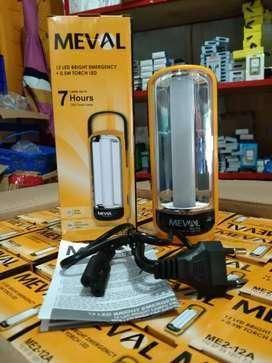 FREE ANTAR YK-LAMPU MEVAL ME2-12A 2IN1 EMERGENCY+SENTER PUTIH DICAS