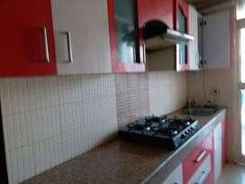 2bhk flat for rent crossing republik wood work complete ..