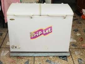 Waves triplet freezer along with wooden stand